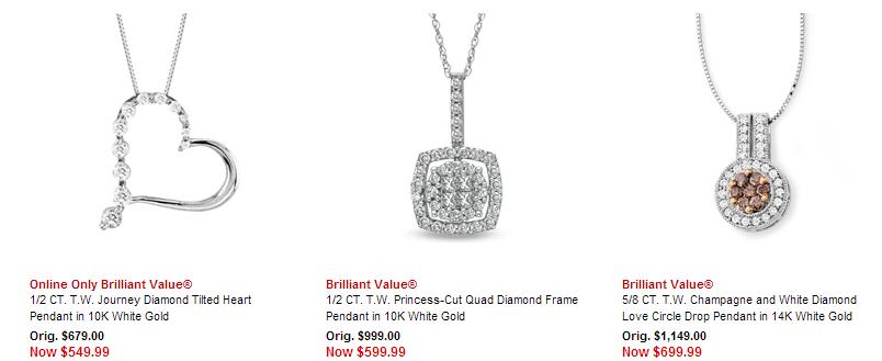 Diamond Pendant Discounts